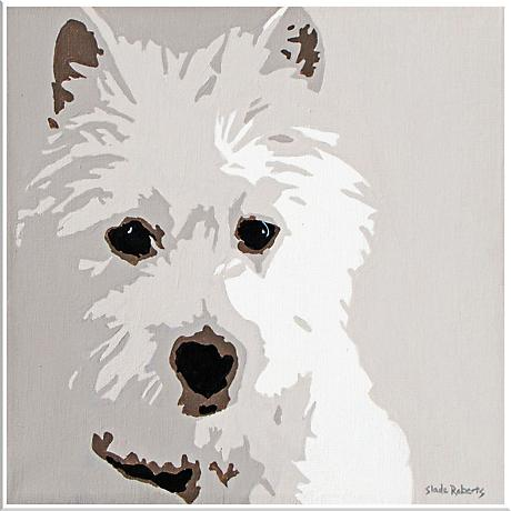 "Cute Pet XIII 16"" Square Framed Giclee Wall Art"