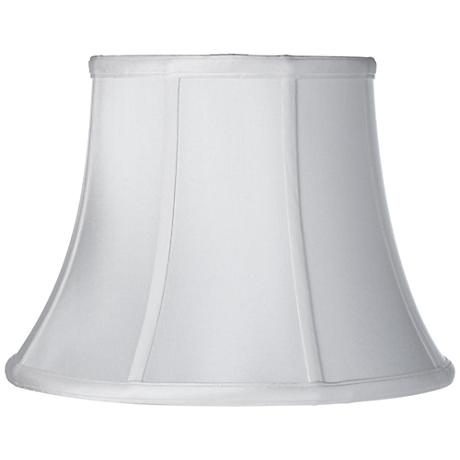 Soft White Silk Bell Lamp Shade 11x18x13.5 (Spider)
