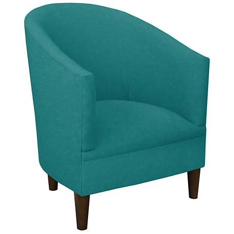 Tilley Laguna Blue Linen Tub Chair