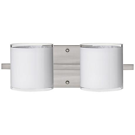 "Besa Pogo 15"" Wide White Bathroom Light"