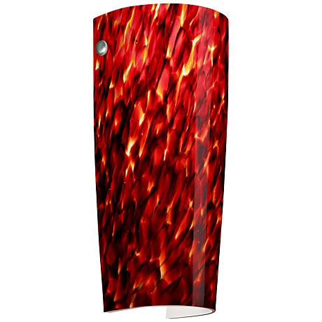 "Besa Tomas 11 1/4"" High Garnet Sconce"