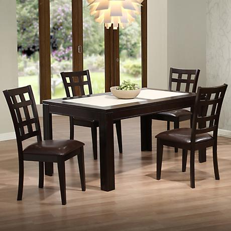 Asbury Espresso 5-Piece Dining Room Set