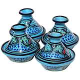 Le Souk Ceramique Sabrine Design Set of 4 Mini Tagines