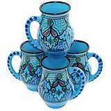 Le Souk Ceramique Sabrine Design Set of 4 Large Mugs