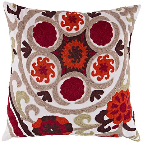 "Surya Burnt Orange 18"" Square Decorative Throw Pillow"