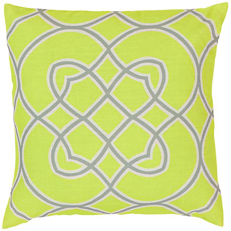 "Surya Moss 18"" Square Decorative Throw Pillow"