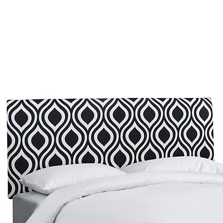 Emily Black and White Upholstered Headboard