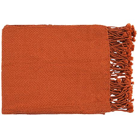 Surya Turner Collection Burnt Orange Throw
