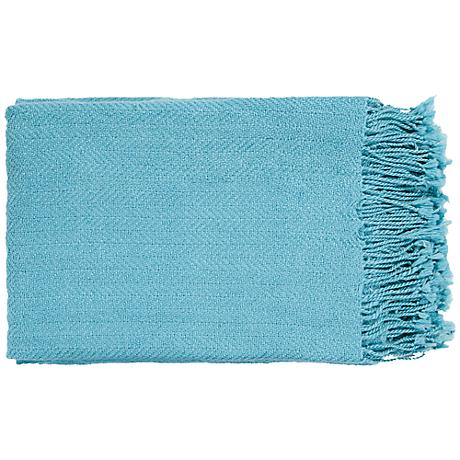 Surya Turner Collection Sky Blue Throw