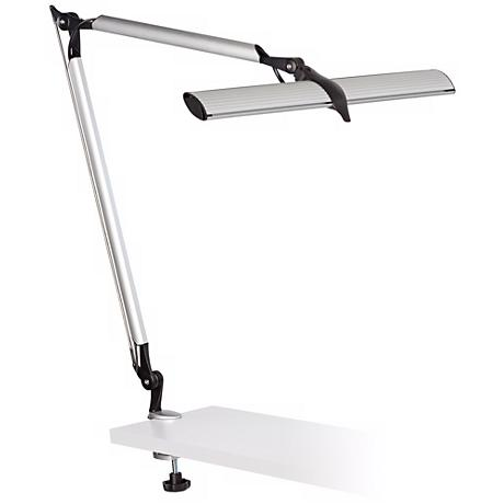 Skape Silver Led Clamp Desk Lamp 4m042 Www Lampsplus Com