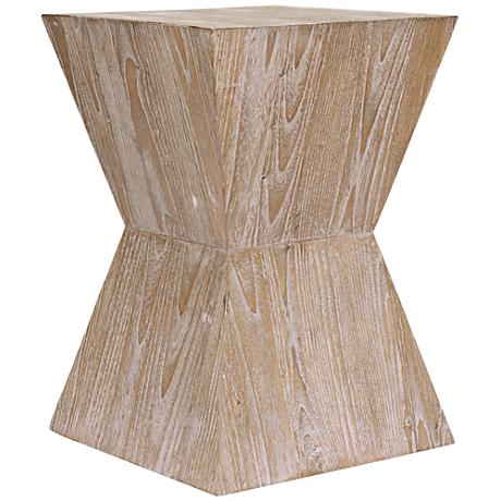 Martil Distressed Oak Wood Side Table