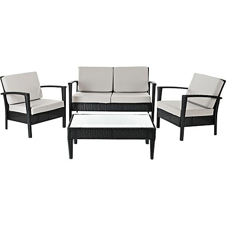 Piscataway 4-Piece Gray Outdoor Conversation Set