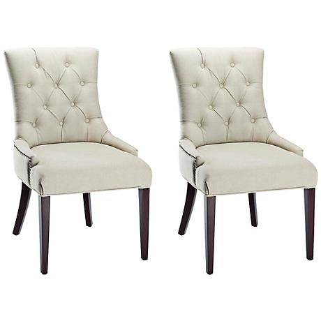 Maria Taupe Linen Upholstered Chair