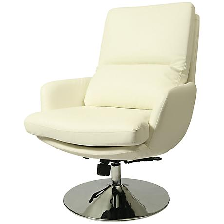 Impacterra Pennywise Ivory Faux Leather Club Chair