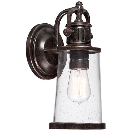 "Quoizel Steadman 12 1/2"" Small Outdoor Wall Light"