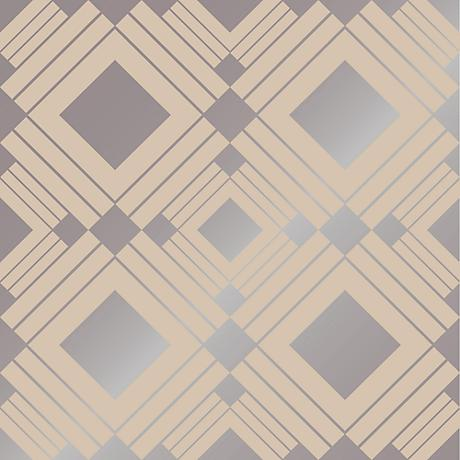Tempaper Diamond Taupe Removable Wallpaper