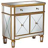 Bailey Gold and Mirror Accent Chest