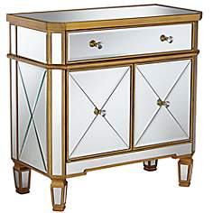 Constantine Gold and Mirror Accent Chest