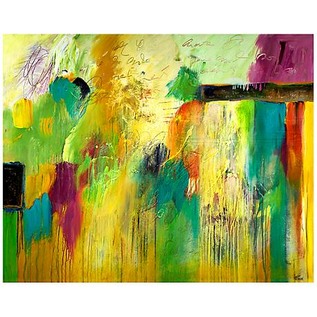 "Fresh Spring Acts Canvas 20"" Wide Abstract Wall Art"