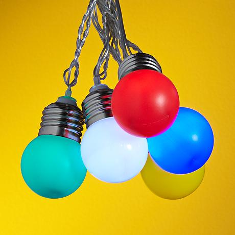 Mini Globe String Lights Clear : Mini Color Globes 10-Light LED String Party Lights