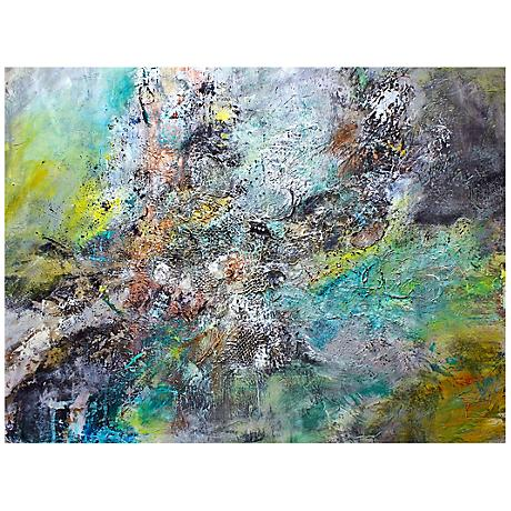 "Elegant Abstract Canvas 20"" Wide Landscape Wall Art"