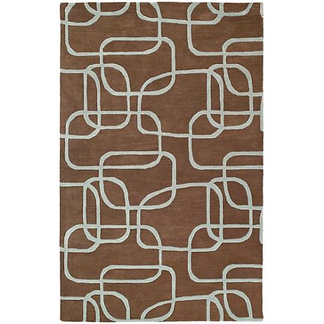 Kaleen Astronomy 3402-49 Nebula Brown Wool Area Rug