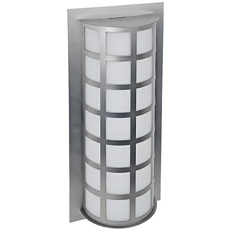 "Besa Scala 20"" High Brushed Aluminum Outdoor Wall Light"