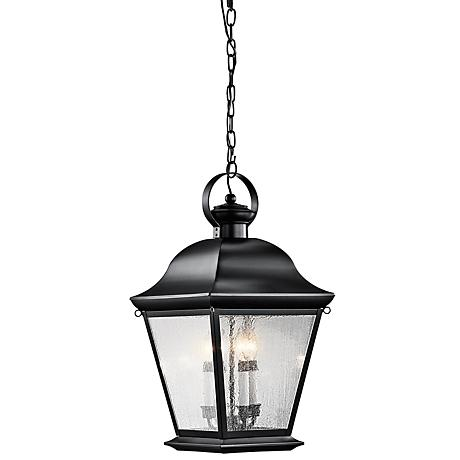 "Kichler Mt. Vernon 26"" High Black Outdoor Hanging Light"
