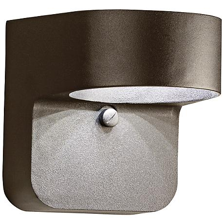"Kichler Brandt 5 1/2"" High Bronze Outdoor LED Wall Light"