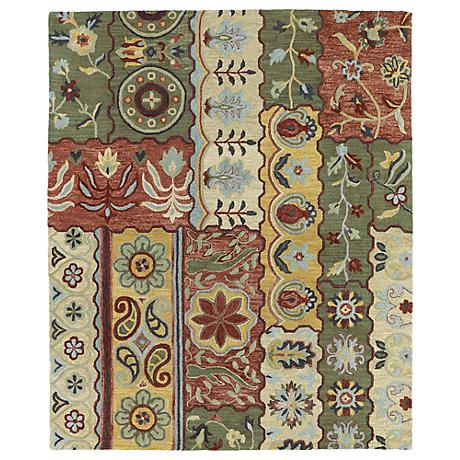 Kaleen Brooklyn 5300-05 Lizbeth Gold Wool Area Rug