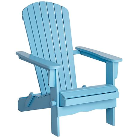 Monterey Sky Blue Wood Adirondack Chair