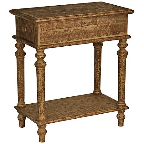 Cheyenne Hand-Rubbed Tumbleweed Chairside Table
