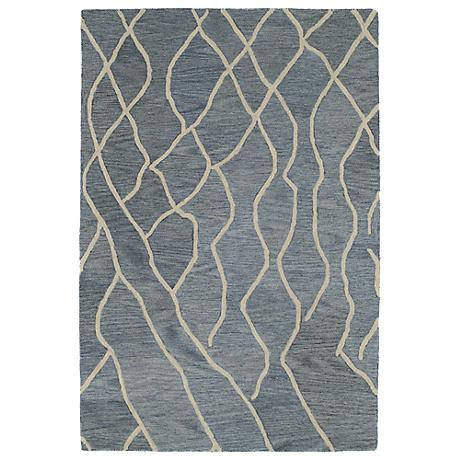 Kaleen Casablanca CAS03-75 Grey Wool Area Rug