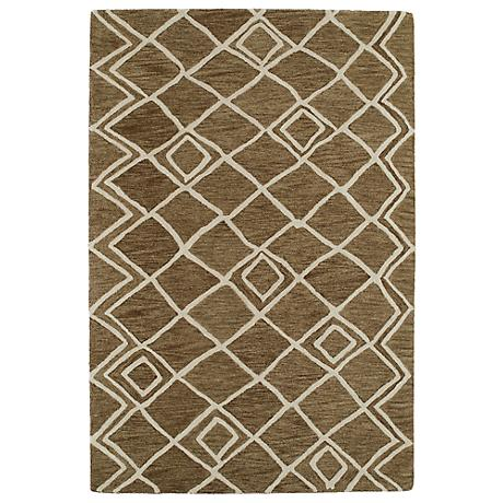 Kaleen Casablanca CAS04-49 Brown Wool Area Rug