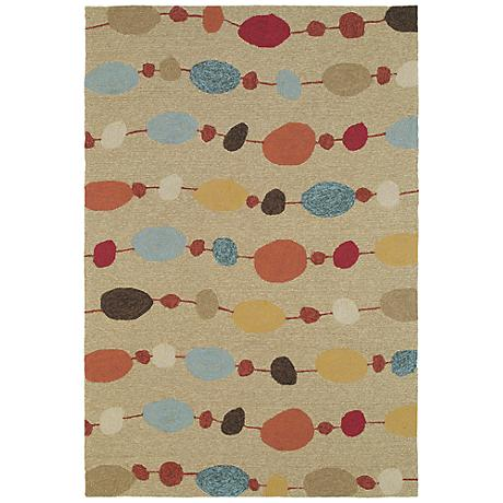 Kaleen Habitat 2105-29 Buoy Sand Indoor/Outdoor Rug