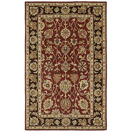 Kaleen Heirloom 8803-04 Deborah Burgundy Area Rug
