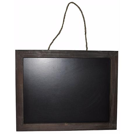 "Tinsley Wooden 19"" Wide Hanging Blackboard Wall Art"