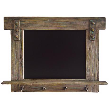 "Potter Distressed Wood 30 3/4"" Wide Chalkboard Wall Art"