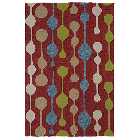 Kaleen Home & Porch 2035-25 Red Drop Rug