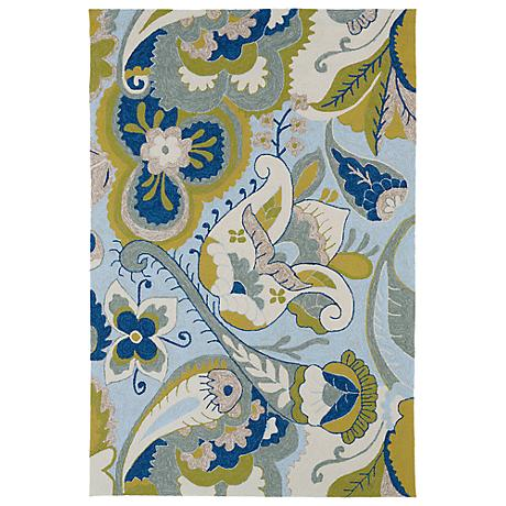 Kaleen Home & Porch 2037-56 Spa Floral Rug