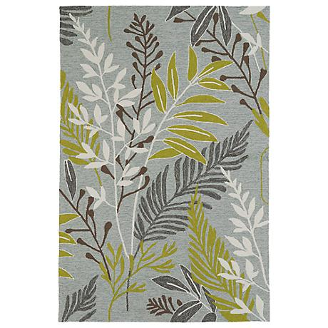 Kaleen Home & Porch 2038-70 Wasabi Leaf Rug
