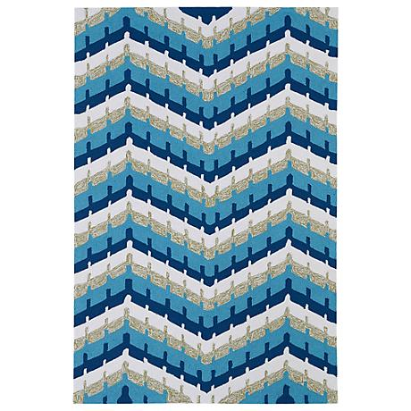 Kaleen Home & Porch 2039-17 Blue And Silver Rug