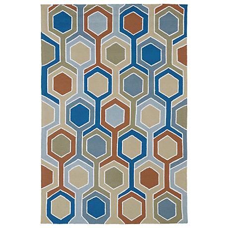 Kaleen Home & Porch 2040-47 Chino Blue Rug
