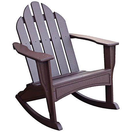 Skooly Brown Kids Outdoor Adirondack Rocker
