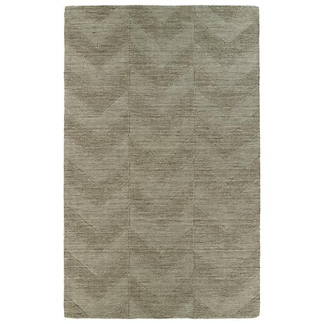 Kaleen Imprints Modern IPM05-82 Brown Zig Zag Rug