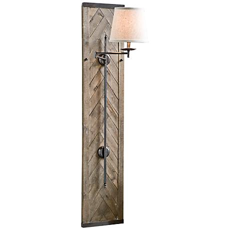"Regina-Andrew Herringbone 60"" Swing-arm Sconce"