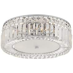 "Possini Euro Finley 14"" Wide Crystal Ceiling Light"