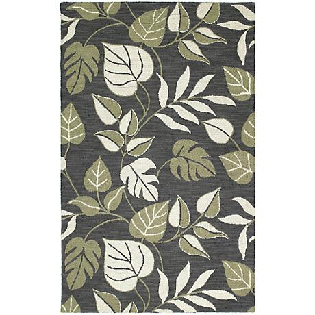 Kaleen Khazana 6594-02 Catalina Black Wool Area Rug