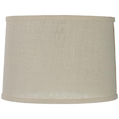 Cream Burlap Drum Lamp Shade 13x14x10 (Spider)