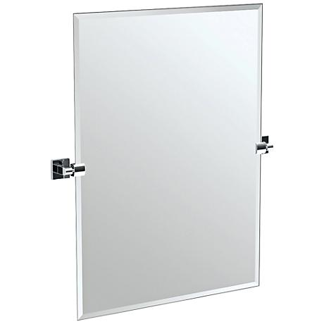 "Gatco Elevate Chrome 27 1/2"" x 31 1/2"" Wall Mirror"